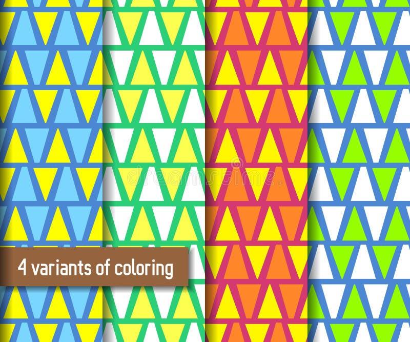 Άνευ ραφής σχέδιο τριγώνων και ακροβατικών αιώρων επίσης corel σύρετε το διάνυσμα απεικόνισης απεικόνιση αποθεμάτων