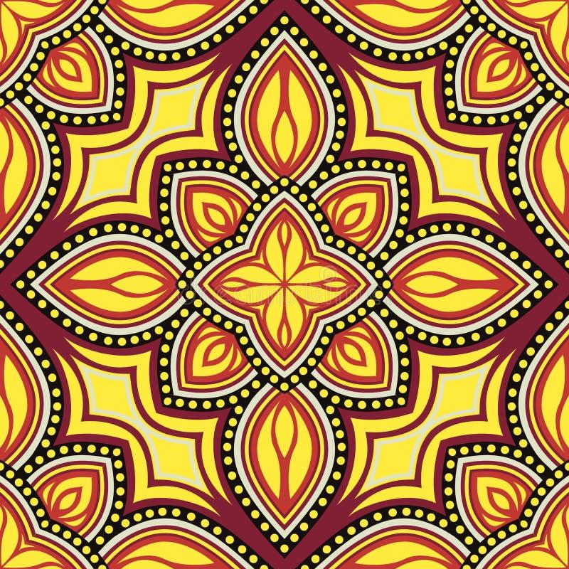 Άνευ ραφής σχέδιο των στοιχείων στο ασιατικό ύφος Floral μοτίβα απεικόνιση αποθεμάτων