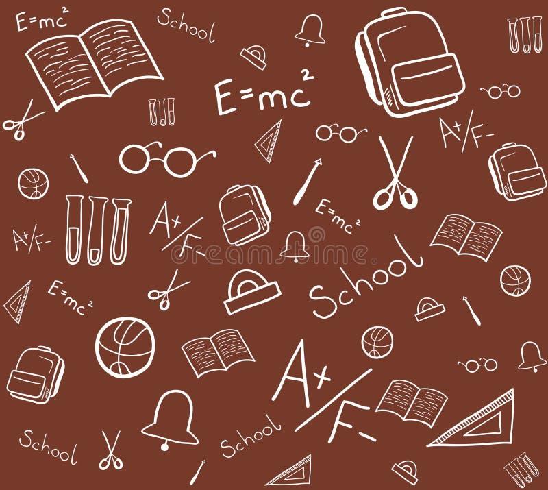 Άνευ ραφής σχέδιο των σχολικών στοιχείων : διανυσματική απεικόνιση
