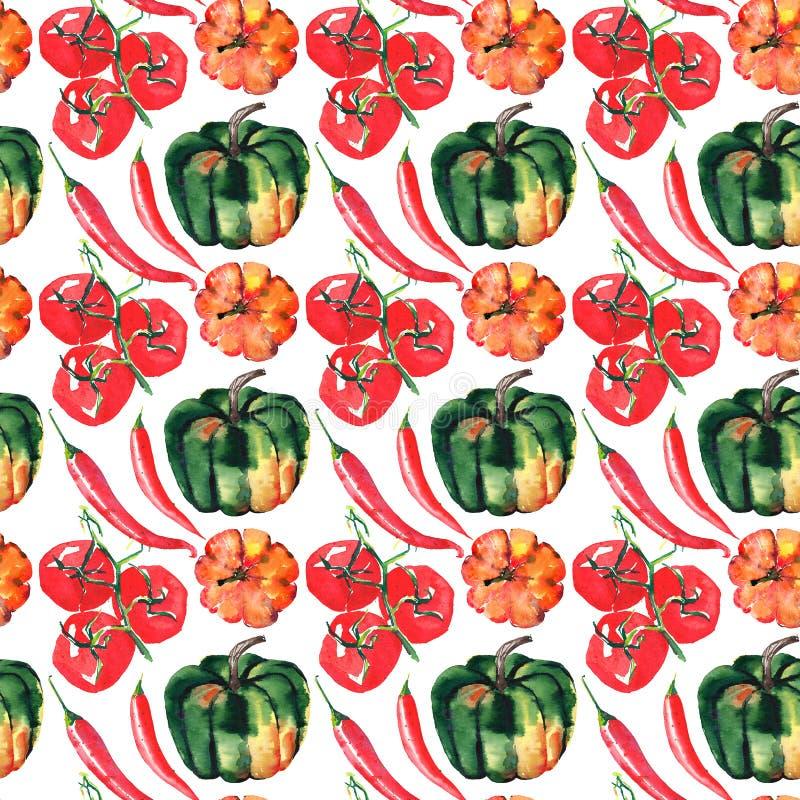 Άνευ ραφής σχέδιο των όμορφων καλών γραφικών καλλιτεχνικών αφηρημένων φωτεινών χαριτωμένων πορτοκαλιών, πράσινων κολοκυθών αποκρι διανυσματική απεικόνιση