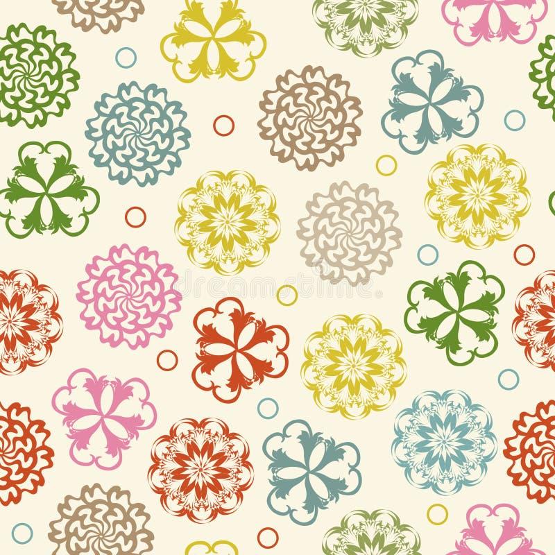Άνευ ραφής σχέδιο υποβάθρου doodle κύκλων floral αναδρομικό μέσα Κύκλοι Zentangle για την εκτύπωση στο ύφασμα ή χαρτί απεικόνιση αποθεμάτων
