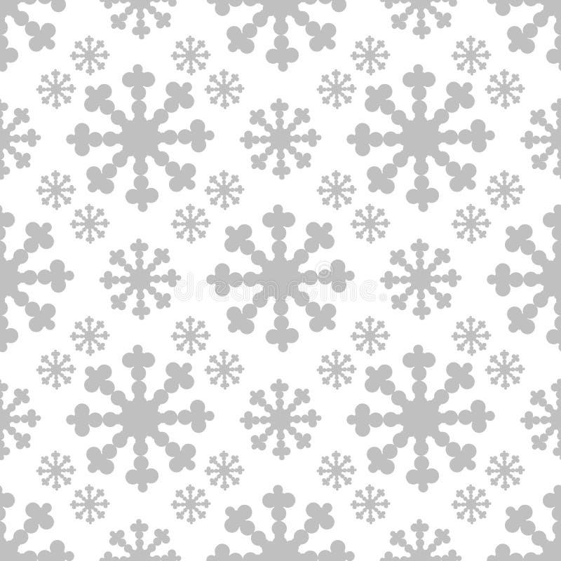 Άνευ ραφής σχέδιο Χριστουγέννων με τη μεγάλη νιφάδα διάνυσμα απεικόνιση αποθεμάτων