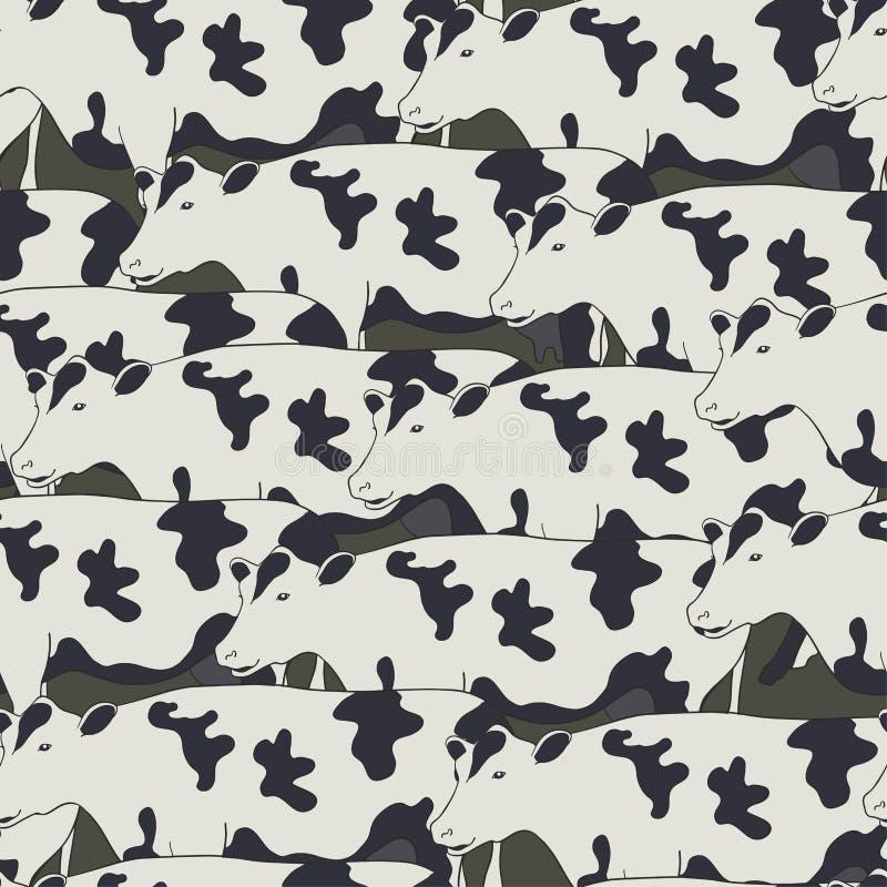 Άνευ ραφής σχέδιο όλες οι αγελάδες ελεύθερη απεικόνιση δικαιώματος