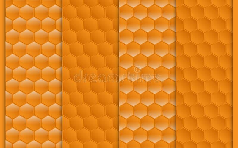 Άνευ ραφής σχέδιο hexagons απεικόνιση αποθεμάτων