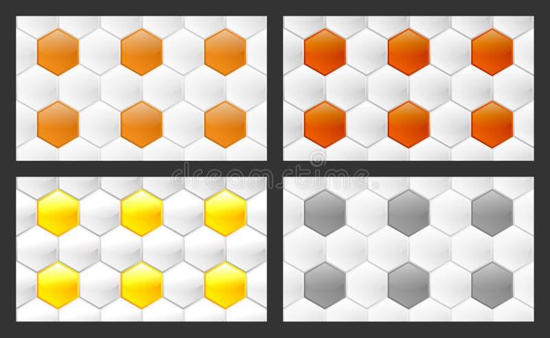 Άνευ ραφής σχέδιο hexagons διανυσματική απεικόνιση