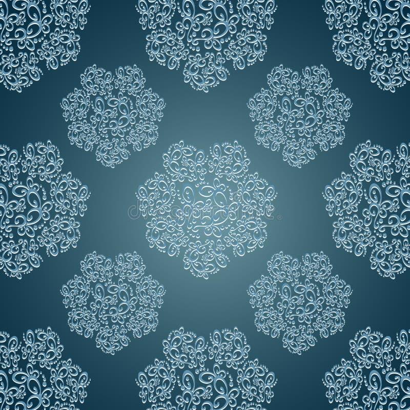 Άνευ ραφής σχέδια με τα λουλούδια δαντελλών στο βικτοριανό s ελεύθερη απεικόνιση δικαιώματος