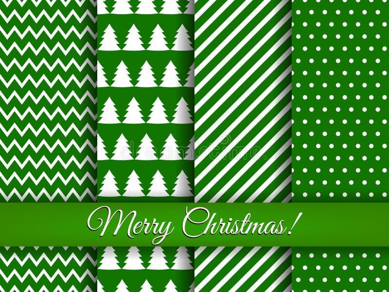 Άνευ ραφής σχέδια Χριστουγέννων καθορισμένα διανυσματικά ελεύθερη απεικόνιση δικαιώματος