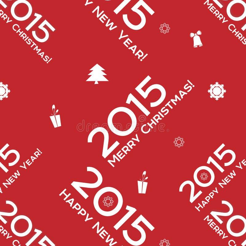 Άνευ ραφής σχέδιο λέξεων Χριστουγέννων ελεύθερη απεικόνιση δικαιώματος