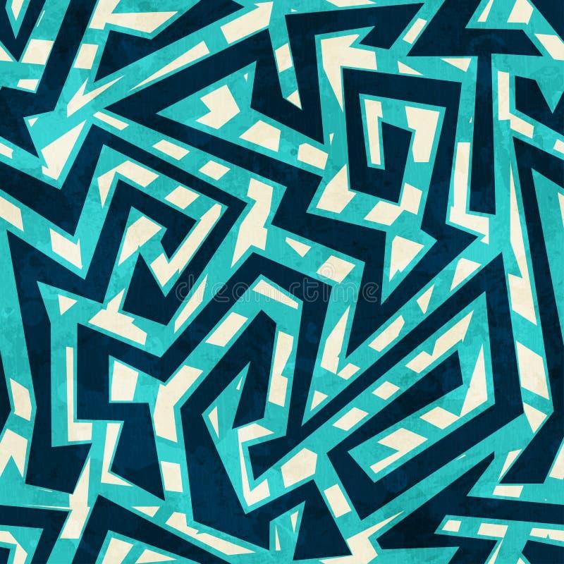 Άνευ ραφής σχέδιο λαβυρίνθου θάλασσας διανυσματική απεικόνιση