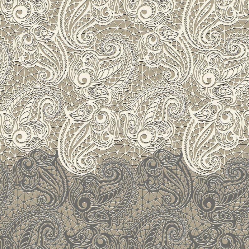 Άνευ ραφής σχέδιο δαντελλών του Paisley στοκ εικόνα με δικαίωμα ελεύθερης χρήσης