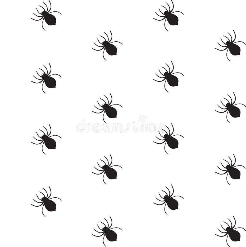 Άνευ ραφής σχέδιο αραχνών αποκριών ελεύθερη απεικόνιση δικαιώματος