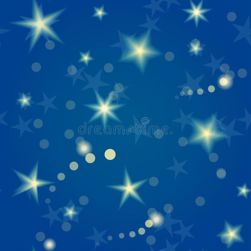 Άνευ ραφής σχέδιο αστεριών ελεύθερη απεικόνιση δικαιώματος