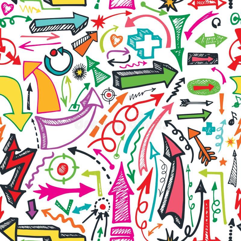 Άνευ ραφής σχέδιο βελών Διάνυσμα Doodle διανυσματική απεικόνιση