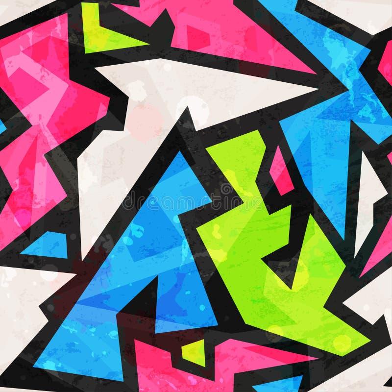 Άνευ ραφής σχέδιο γκράφιτι με την επίδραση grunge διανυσματική απεικόνιση