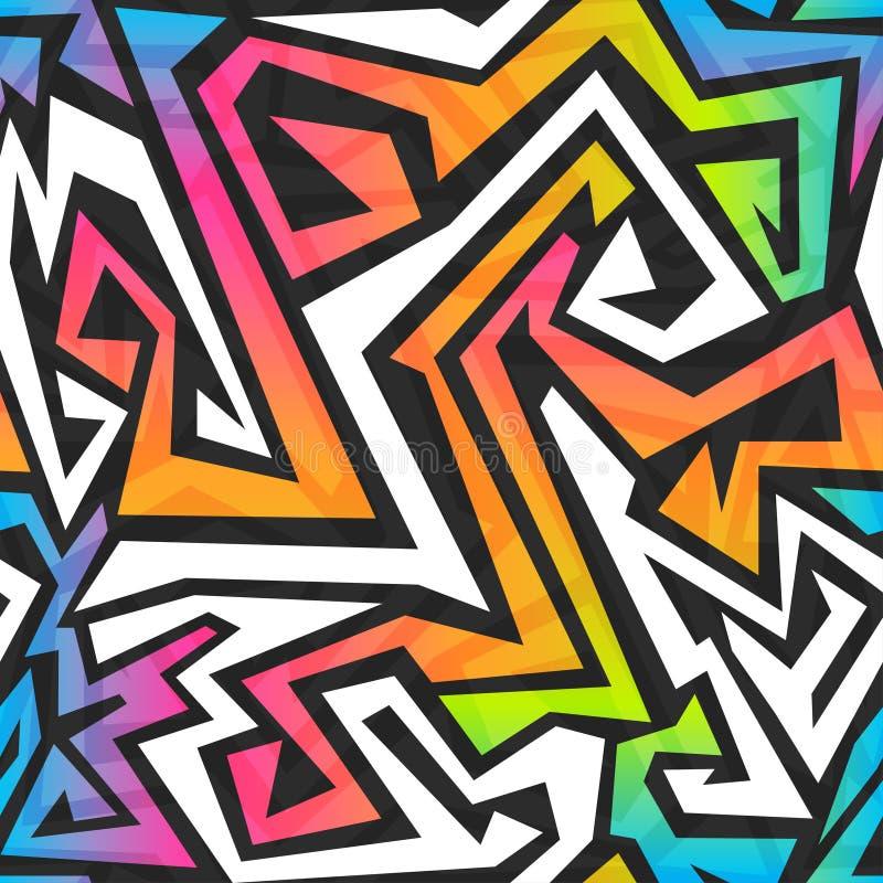 Άνευ ραφής σχέδιο γκράφιτι χρώματος φάσματος διανυσματική απεικόνιση