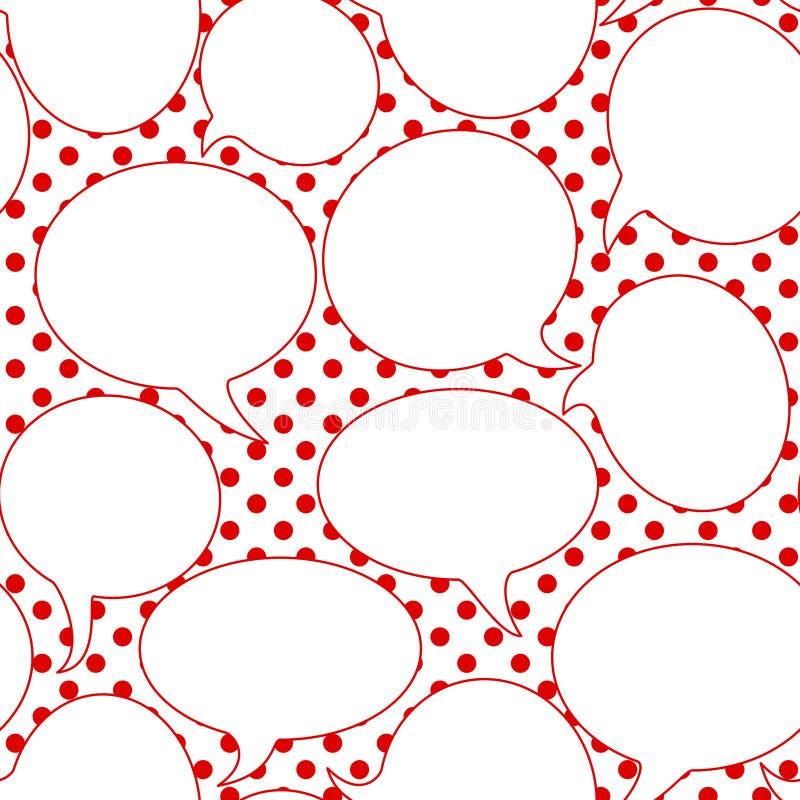 Άνευ ραφής σχέδιο λεκτικών μπαλονιών διανυσματική απεικόνιση