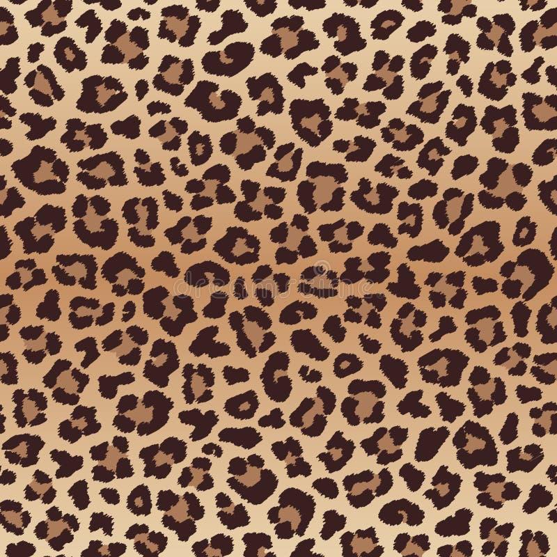 Άνευ ραφής σχέδιο λεοπαρδάλεων, μίμησης του δέρματος λεοπαρδάλεων απεικόνιση αποθεμάτων