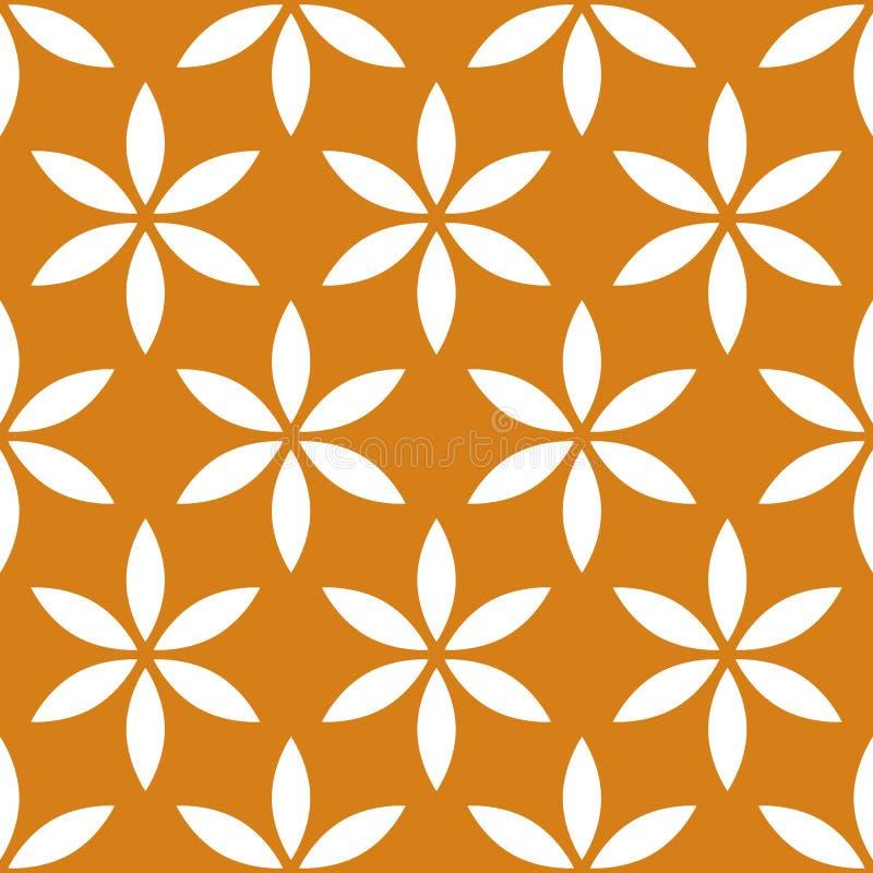 Άνευ ραφής σχέδιο με απλός floral, μοτίβο λουλουδιών διανυσματική απεικόνιση