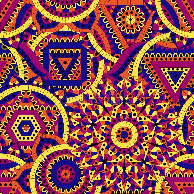 Άνευ ραφής σχέδιο με επτά chakras Ασιατικές διακοσμήσεις για τα εμβλήματα, κάρτες και ή για το σχέδιό σας Διακοσμητικά στοιχεία β απεικόνιση αποθεμάτων