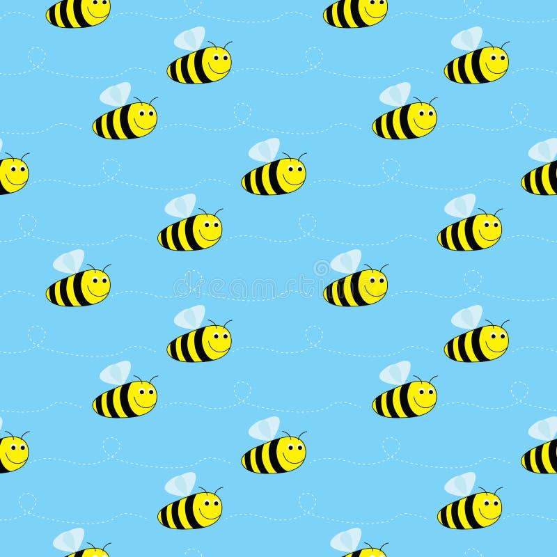 Άνευ ραφής σχέδιο μελισσών ελεύθερη απεικόνιση δικαιώματος