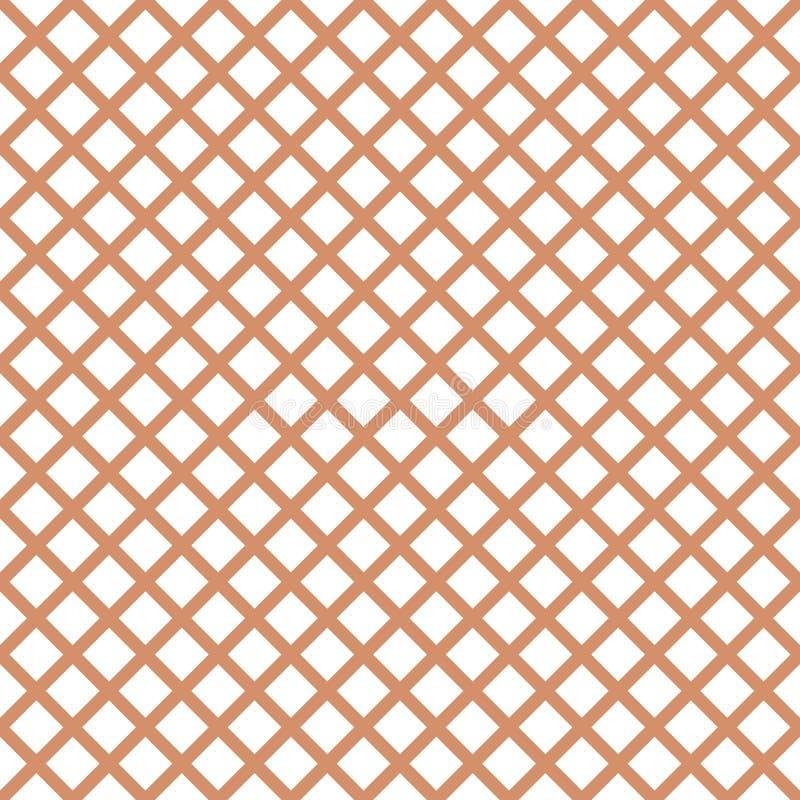 Άνευ ραφής σχέδιο με καθιερώνον τη μόδα μοντέρνο gingham κυττάρων στα χρώματα καφέ απεικόνιση αποθεμάτων