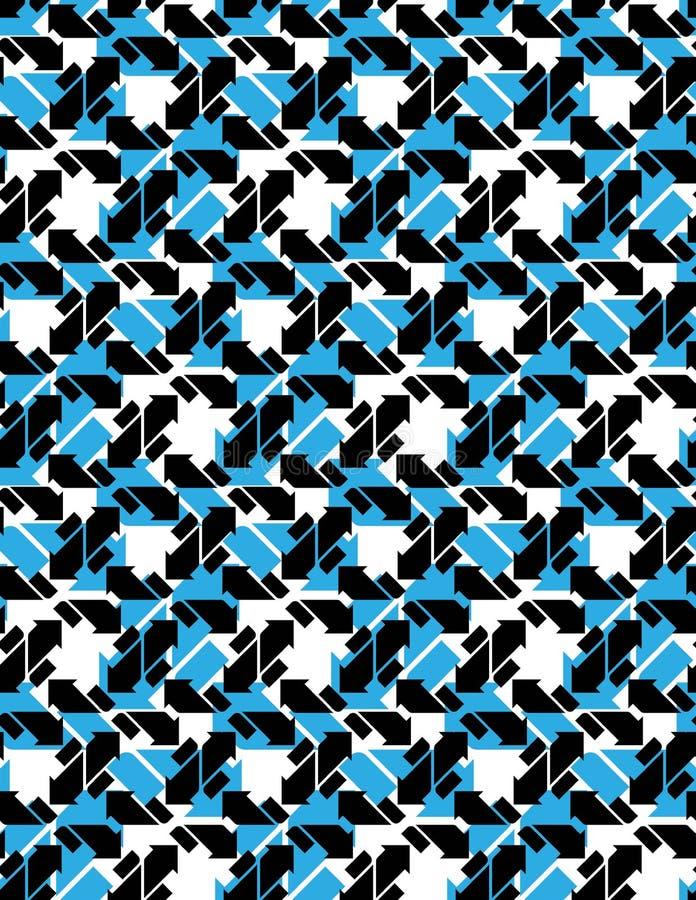 Άνευ ραφής σχέδιο με τα βέλη, γραπτός άπειρος γεωμετρικός απεικόνιση αποθεμάτων