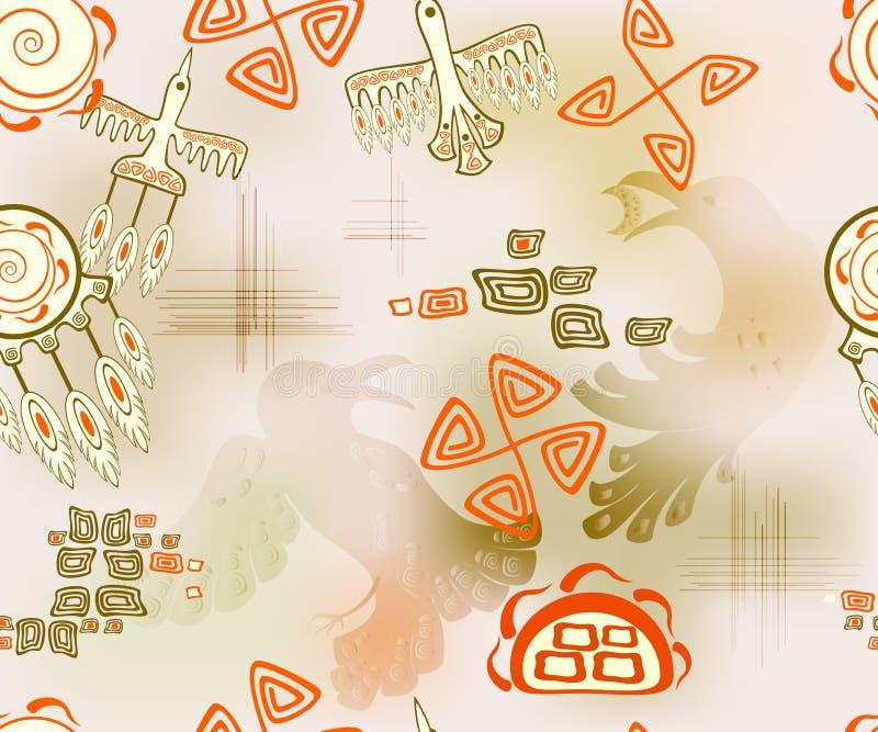 Άνευ ραφής σχέδιο με τα εθνικά ινδικά σύμβολα EPS10 διανυσματική απεικόνιση διανυσματική απεικόνιση