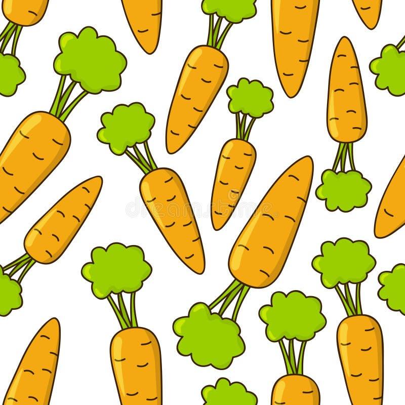 Άνευ ραφής σχέδιο με τα καρότα ελεύθερη απεικόνιση δικαιώματος