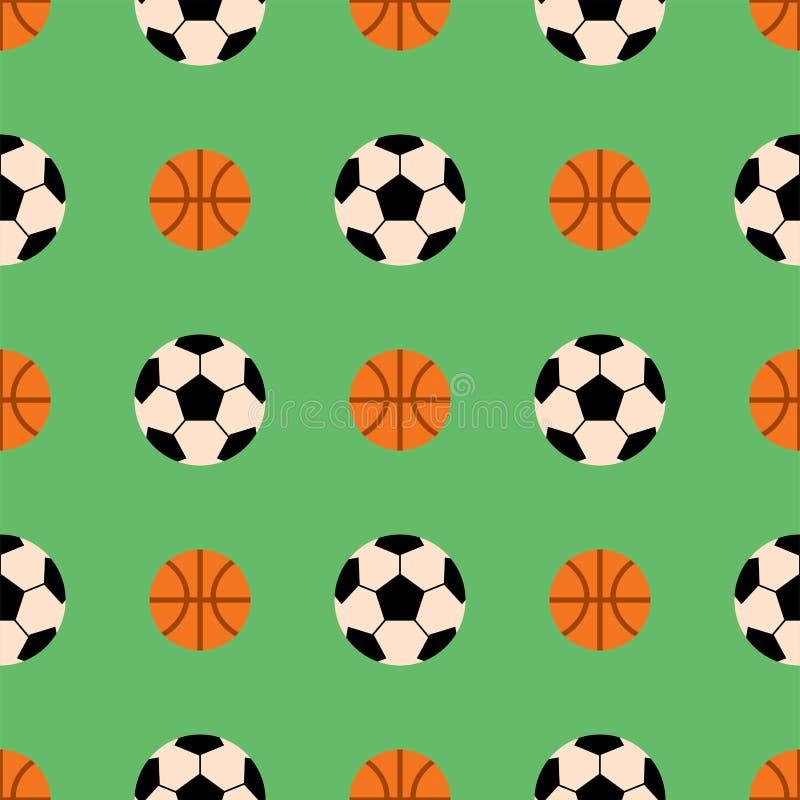 Άνευ ραφής σχέδιο με τη διανυσματική hexagon απεικόνιση σκηνικού αθλητικής μορφής καλαθοσφαίρισης κεραμιδιών αθλητικών παιχνιδιών διανυσματική απεικόνιση