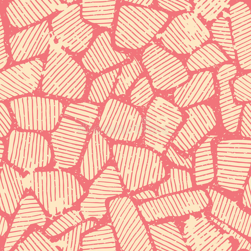 Άνευ ραφής σχέδιο με τη ρόδινη αφηρημένη διακόσμηση διανυσματική απεικόνιση