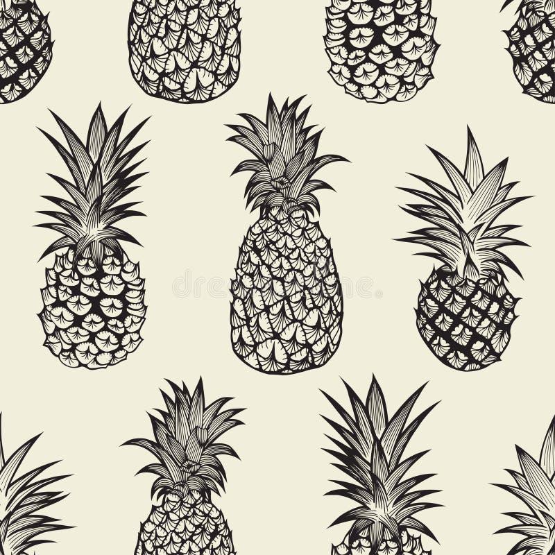 Άνευ ραφής σχέδιο με τους ανανάδες ελεύθερη απεικόνιση δικαιώματος