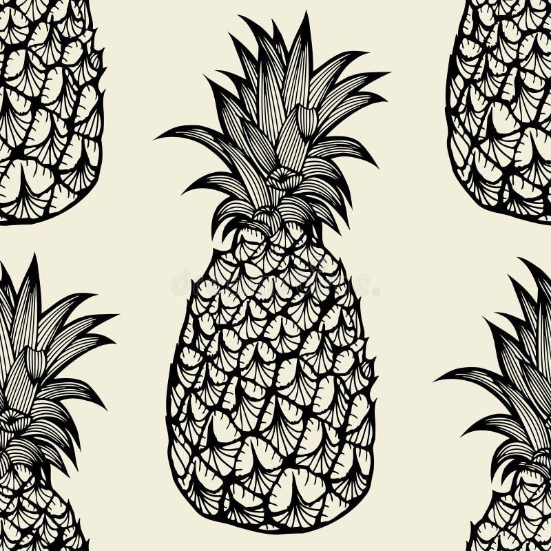 Άνευ ραφής σχέδιο με τους ανανάδες απεικόνιση αποθεμάτων