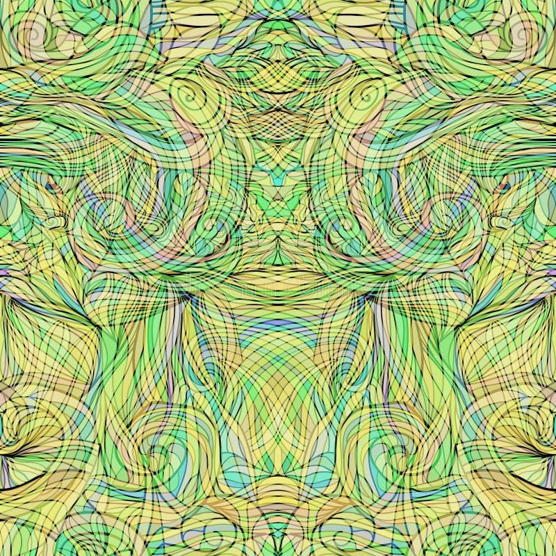 Άνευ ραφής σχέδιο με το αφηρημένο διάνυσμα 6 φτερών ελεύθερη απεικόνιση δικαιώματος