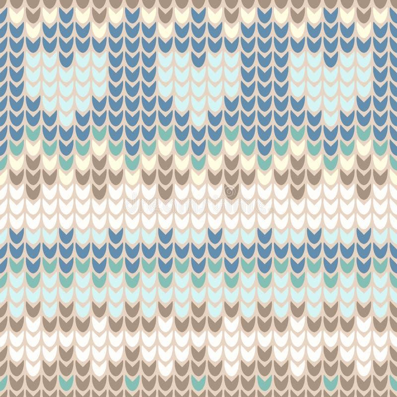 Άνευ ραφής σχέδιο με το ευγενές tracery χειμερινού πλεξίματος απεικόνιση αποθεμάτων