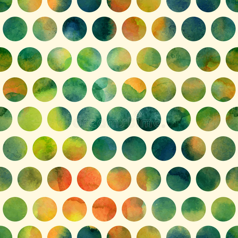 Άνευ ραφής σχέδιο με χρωματισμένα τα χέρι σημεία Πόλκα ελεύθερη απεικόνιση δικαιώματος