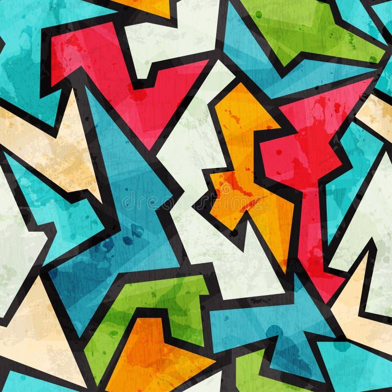 Άνευ ραφής σχέδιο μωσαϊκών γκράφιτι με την επίδραση grunge απεικόνιση αποθεμάτων