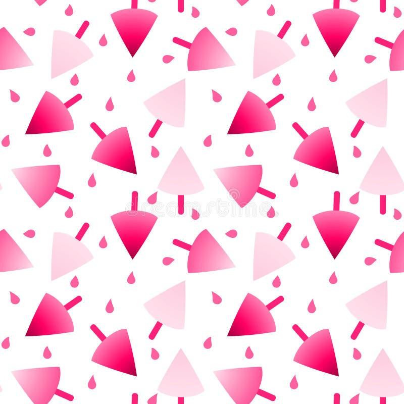 Άνευ ραφής σχέδιο παγωτού φραουλών ελεύθερη απεικόνιση δικαιώματος