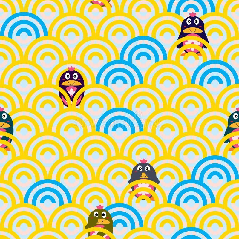 Άνευ ραφής σχέδιο παιχνιδιού Penguin χαριτωμένο ελεύθερη απεικόνιση δικαιώματος