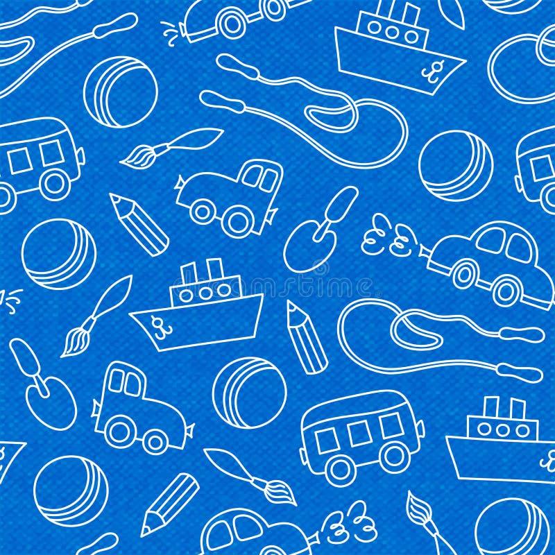 Άνευ ραφής σχέδιο παιχνιδιών παιδιών doodle ελεύθερη απεικόνιση δικαιώματος