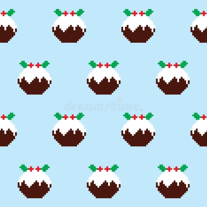 Άνευ ραφής σχέδιο πουτίγκας Χριστουγέννων, άλτης Χριστουγέννων ή ύφος πουλόβερ, ντεκόρ Χριστουγέννων ελεύθερη απεικόνιση δικαιώματος