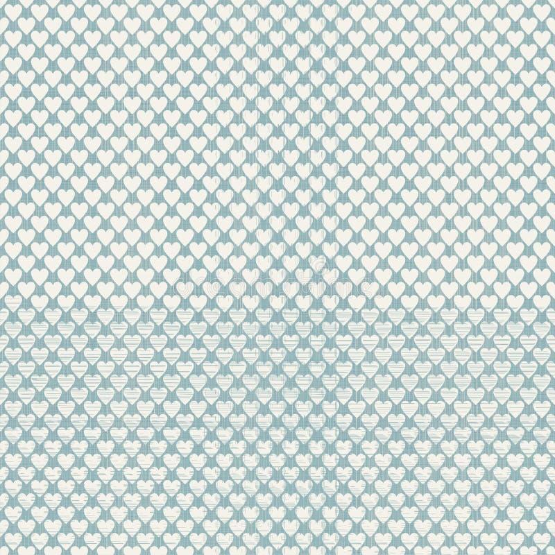 Άνευ ραφής σχέδιο σημείων Πόλκα καρδιών ελεύθερη απεικόνιση δικαιώματος