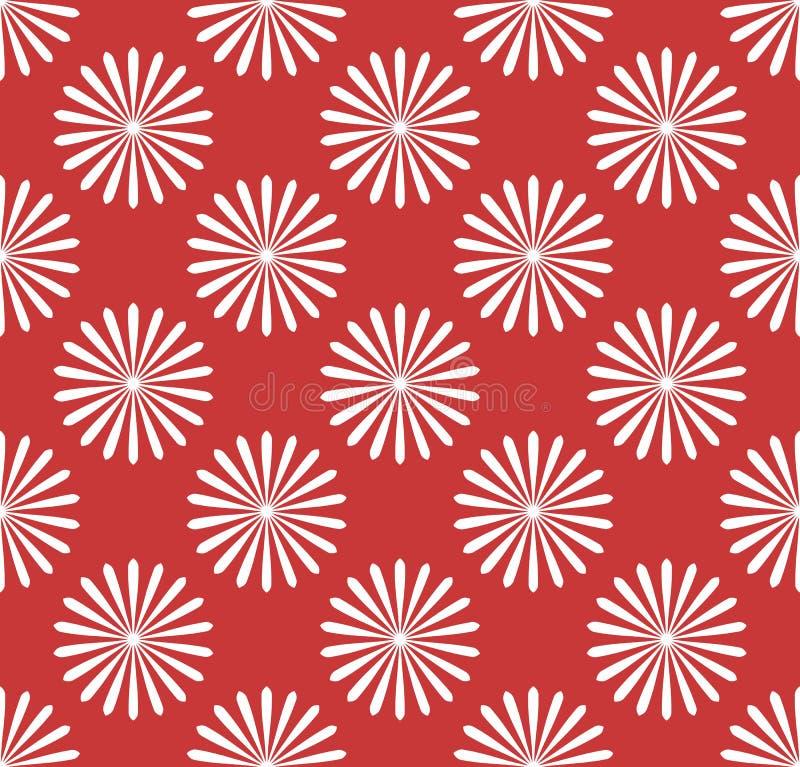 Άνευ ραφής σχέδιο, ταπετσαρία με τα μοτίβα λουλουδιών Απλό monochrom ελεύθερη απεικόνιση δικαιώματος