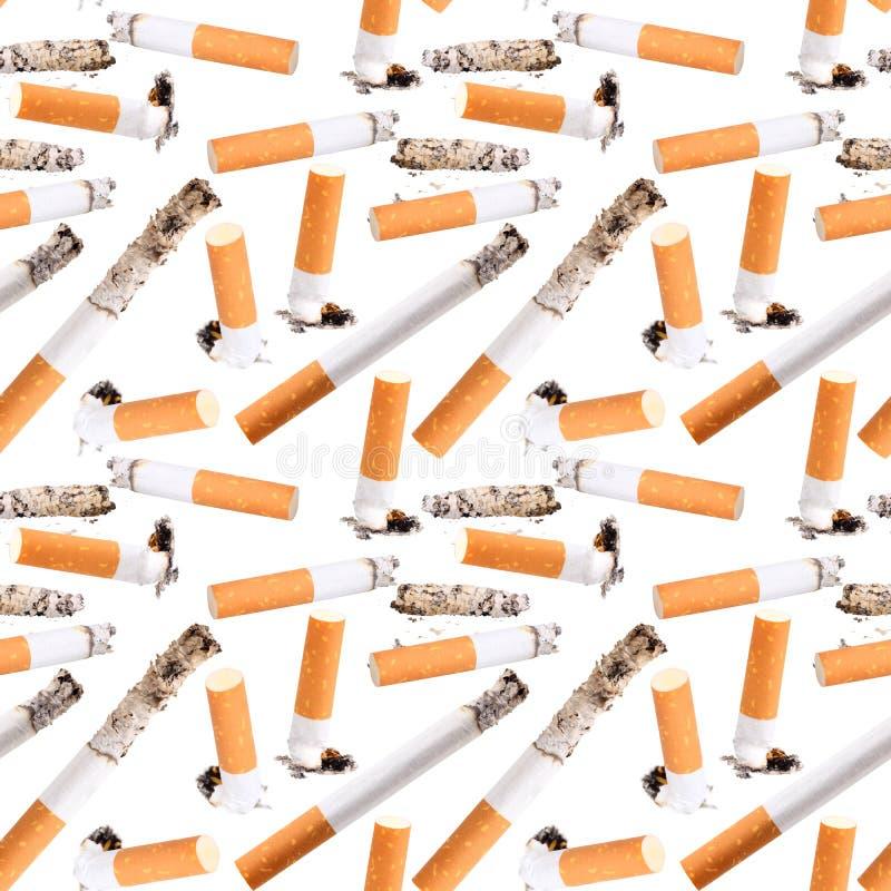 Άνευ ραφής σχέδιο της άκρης τσιγάρων στοκ φωτογραφίες