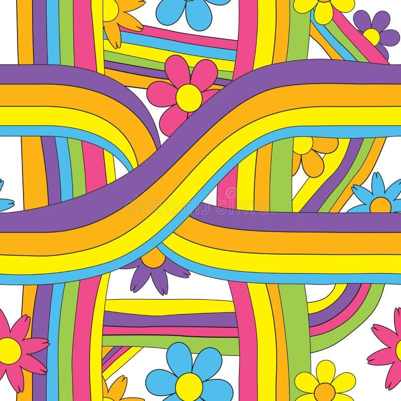 άνευ ραφής σχέδιο της δεκαετίας του '70 της δεκαετίας του '60 απεικόνιση αποθεμάτων