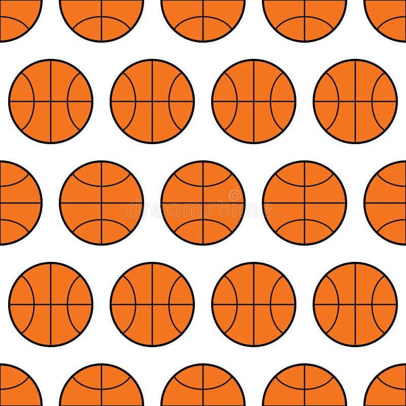 Άνευ ραφής σχέδιο της καλαθοσφαίρισης, αθλητικές σφαίρες διάνυσμα απεικόνιση αποθεμάτων