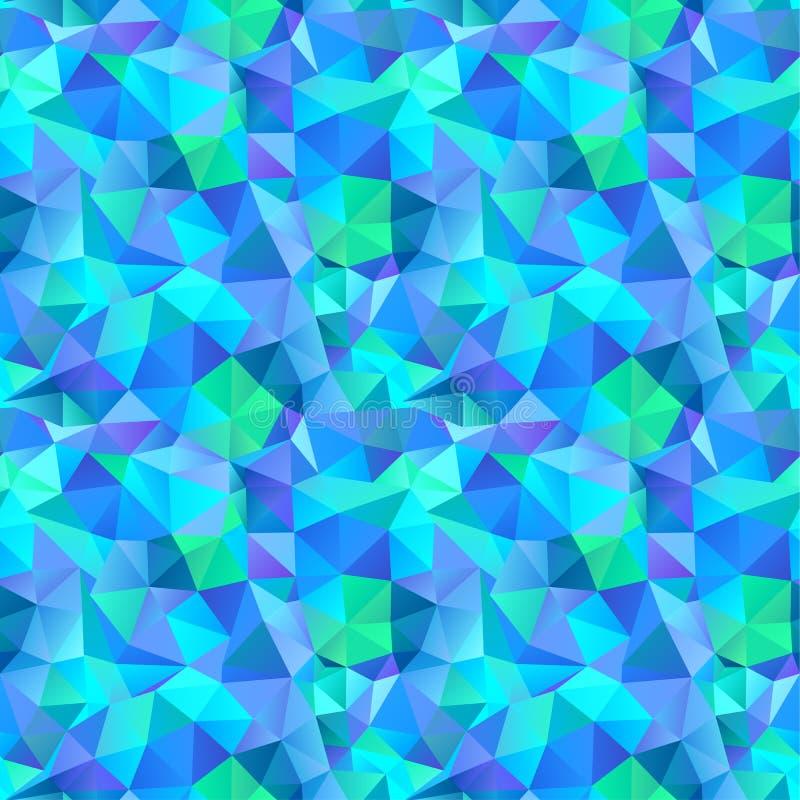 Άνευ ραφής σχέδιο τριγώνων των γεωμετρικών μορφών. Ζωηρόχρωμο μωσαϊκό β ελεύθερη απεικόνιση δικαιώματος