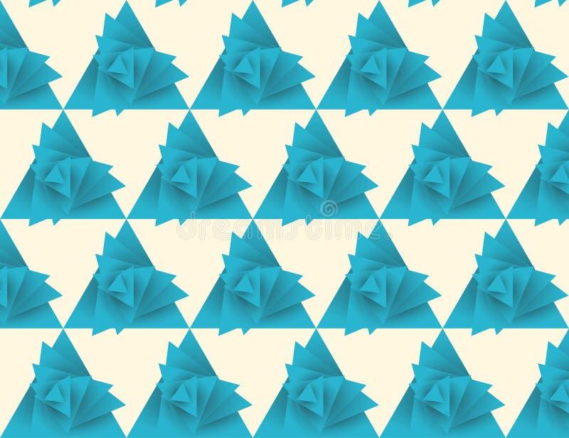 Άνευ ραφής σχέδιο τριγώνων, whirlwind ελεύθερη απεικόνιση δικαιώματος