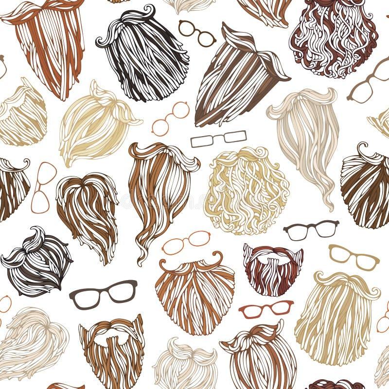 Download Άνευ ραφής σχέδιο των γενειάδων και Eyeglasses ατόμων μόδας Διανυσματική απεικόνιση - εικονογραφία από barbells, γκρίζος: 62720190