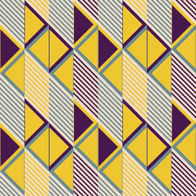 Άνευ ραφής σχέδιο των κεραμιδιών παραλληλογράμμων στα αναδρομικά χρώματα ελεύθερη απεικόνιση δικαιώματος
