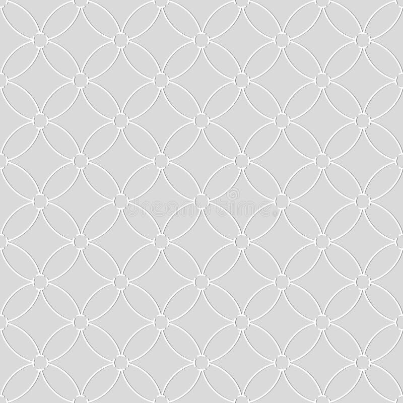 Άνευ ραφής σχέδιο των κυκλικών γραμμών γεωμετρική ταπετσαρία ασυνήθιστος διανυσματική απεικόνιση
